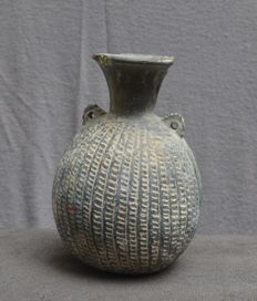 Pre-Columbian Chimu pottery jug in the shape of a fruit - 16,5 cm