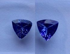Pair of Tanzanites - 1.10 ct total
