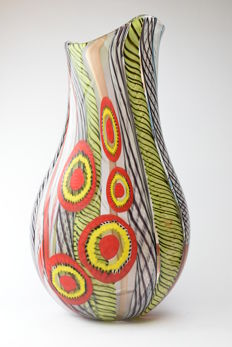 Luca Vidal (Polychromy glassworks) - Unique Molato Vase 1/1
