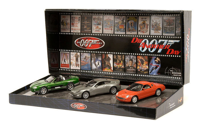 James Bond Die Another Day - Minichamps - Scale 1/43 - Set of 3 modelcars - Aston Martin V12 + Ford 03 + Jaguar XKR