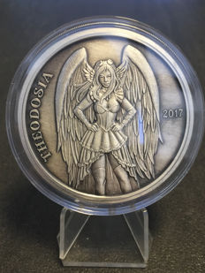 USA - Angels and Demons Theodosia 2017-5 oz silver - antique silver finish - Edition only 750 pieces