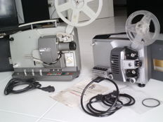 two projectors including = BOLEX SM8 WITH SOUND super8 mm.+ SILMA COMPACT 8 8mm without sound