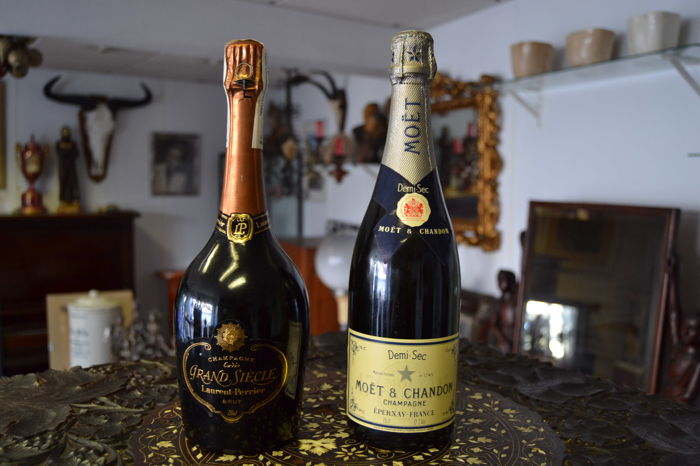 Grande Siecle Laurent - Perrier Brut & Moet & Chandon Demi Sec Champagne - 2 bottles (75cl)