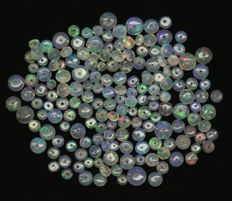 Opal crystal beads - 4 to 7.3 mm - 61 cts ( 146 )