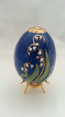 "Faberge the imperial jeweled egg ""czarina's bouquet"" franklin mint"