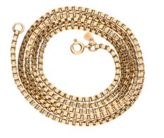 14 kt yellow gold Venetian link necklace - Length: 60.2 cm