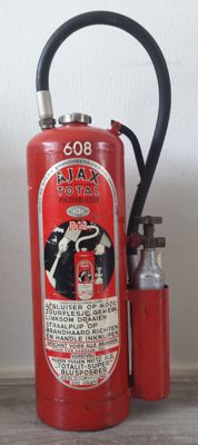 Old fire extinguisher, AJAX, 1963.