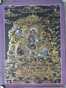 Thangka painting, Palden Lhamo - Tibet/Nepal - late 20th century