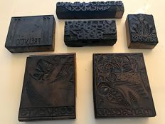 Aldo Patocchi n. 6 original woodcuts (boxwood), early 20th century, from the collection Ettore Cozzani founder of L'Eroica with certificate of authenticity COA