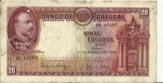 Portugal - 20 Escudos, from 17/09/1929 - Mouzinho de Albuquerque - Pick 143