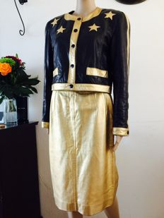 Runaway Escada Gold collection jacket and skirt