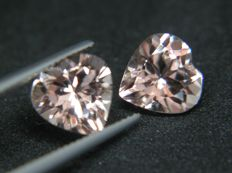 Morganite Pair 4.56 ct Total