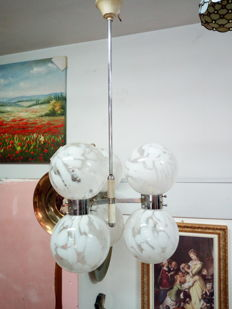 Vintage lamp with Murano glass - 1970s