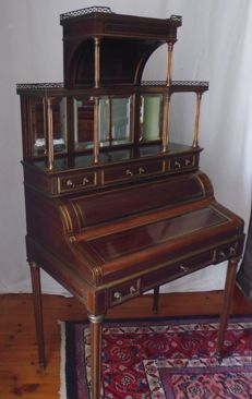 Transition period cylinder desk - Napoleon III - France - second half 19th century