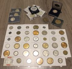 The netherlands - collection of 50 pieces city money, gas medallions and ECUs from 1880 - incl. silver.