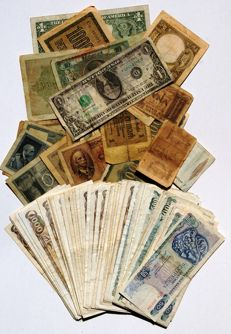 World - Lot of 95 plus banknotes