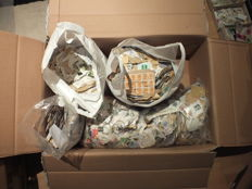 Great Britain - stamp lot, 95 % of the stamps on letter pieces, 9 kg, album sheets, stamp album