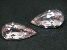 Morganite Pair - 4.18 ct Total