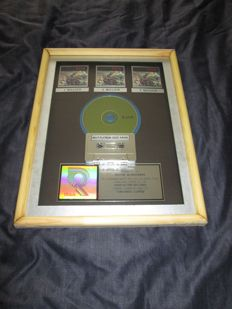 "Original Live 3x Platinum Record Award Disc ""Throwing copper"" Riaa Usa Certified"