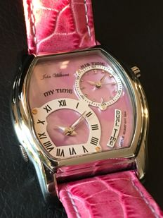 John Williams Dual Time Ladies Watch Rose