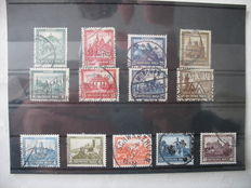 German Empire/Reich 1930/1933 – all 3 emergency aid sets and Wagner Michel 505 B and 506 A