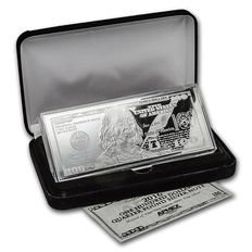 4 oz 2016 - 100$ pure 999 silver bill - with box & certificate