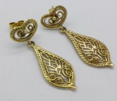 18 Ct gold earrings - 4/1.5 cm