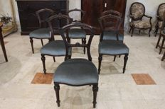 6 mahogany chairs in Louis Philippe style - France - ca. 1860