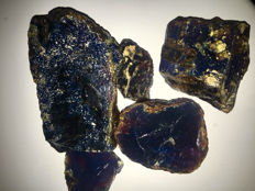 Blue rough amber - 530 gm (5)