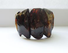 Natural Baltic Amber bracelet, 89 gr.