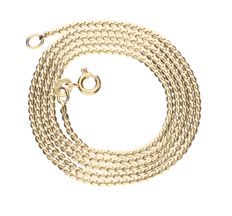 Yellow gold 14 kt, J-link necklace – length: 51.6 cm