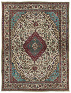 (Size: 387 x 296 cm) Authentic Original Persian Rug, handmade with Certificate of Authenticity from an official appraiser – (Galleria Farah 1970)