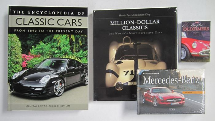 Classic Cars - Lot of 4 books and 1 Quartets (card game) - 2007/2011
