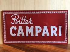 Metallic relief sign for Bitter CAMPARI from the 1990s