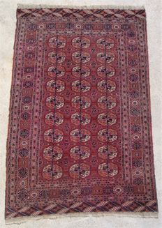 HAnd-knotted Bochara Buchara Russia approx. 80 - 90 years 189 x 126 cm