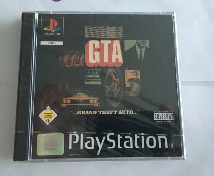 Brand New - Gta - Grand theft Auto - Collector's Edition - Playstation 1 PS1 - Brand new with ps1 seal