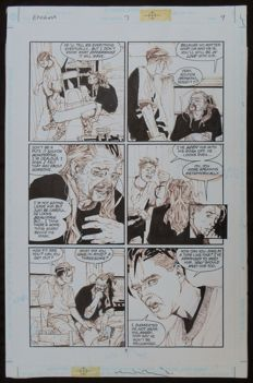 Fegredo, Duncan - Original page + TPB with commission drawing - Enigma - 1st edition - (1995)