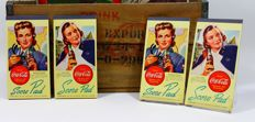 Two complete sets of US Coca Cola Score Pads, WW2