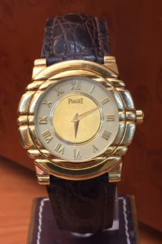 Piaget Tanagra Mecanique. 18 kt gold. Men's watch. Wound. 1980s.