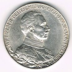 German Empire, Prussia - 2 Mark 1913 A 25th Year of Reign - silver