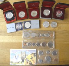 Canada - Lot of 3 year sets 1968, 1969, 1981 and 9 different 1 dollar 1975/1984 - silver