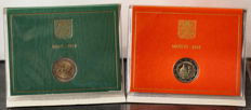 Vatican – 2 Euro 2010 'Year for Priests' and 2 Euro 2016 'Bicentenary Gendarmerie'