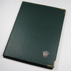 Rolex Green Leather Passport And Cards Holder
