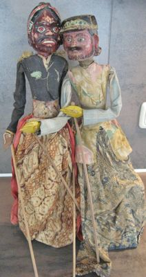 Two Wayang Golek puppets – Java – Indonesia