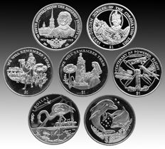 British Virgin Islands - 1 Dollar 2003/2015 'Animals, Famous People & Events' (7 different)