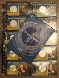 The Netherlands – 5 Euro 2004, Proof, 2006 and 2007 (11 pieces) – silver