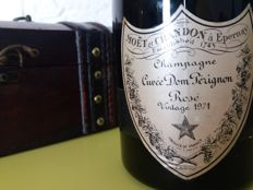 1971 Dom Perignon Rose, Champagne – 1 bottle (75cl) with wood box