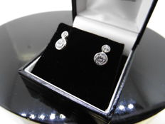 18k Gold Diamond Solitaire Earrings - 0.80ct