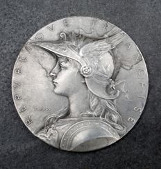 France - 'Police Headquarters/ Public Health and Safety Commissions' coin by Oscar Roty - Silver.