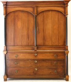 Oak Empire cabinet, the Netherlands, around 1810